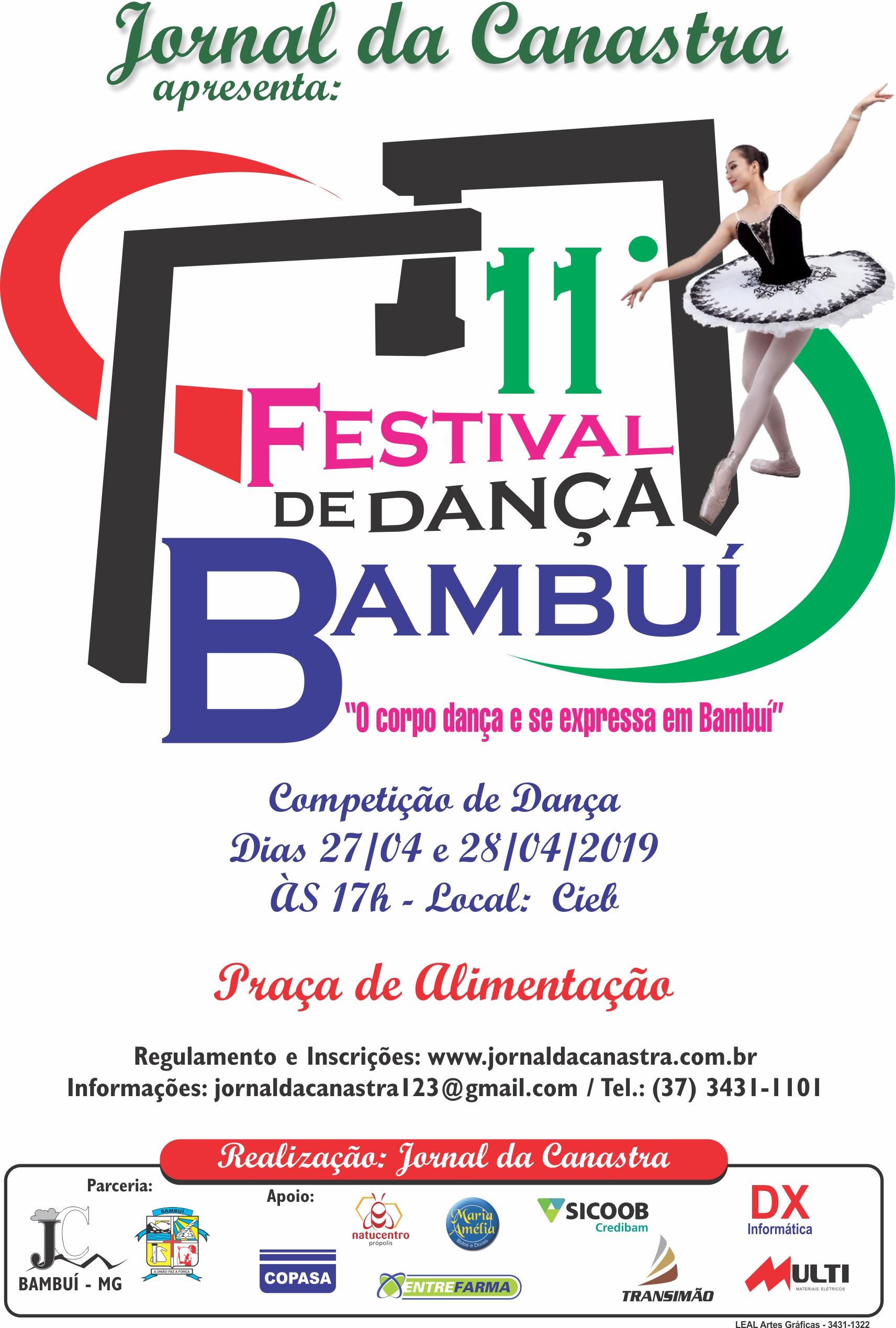 11° Festival de Dança de Bambuí - Venha dançar conosco!